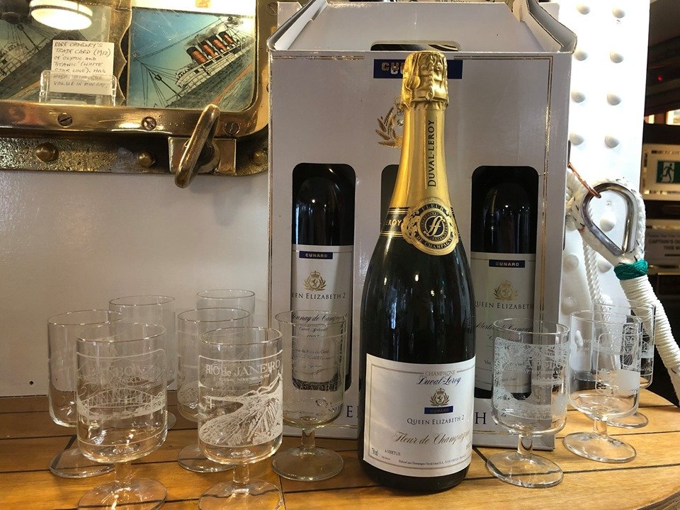 QE2 Vintage Champagne Bottle